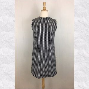 Vintage Polka Dot Round Neck Mod Shift Dress